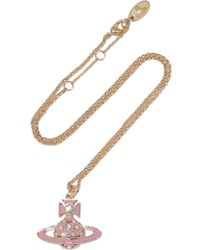 Vivienne Westwood Anglomania | Metallic Brianna Gold-tone Crystal And Enamel Necklace | Lyst