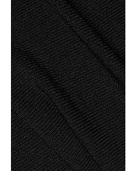Autumn Cashmere - Black Wrap-effect Stretch-knit Top - Lyst
