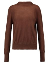 Marni Brown Draped Cashmere Sweater