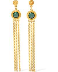 Ben-Amun - Metallic Gold-tone And Stone Earrings - Lyst