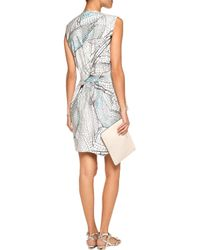 Vionnet Printed Cotton-poplin Dress Sky Blue