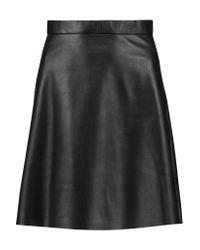 Muubaa | Black Pannala Leather Mini Skirt | Lyst