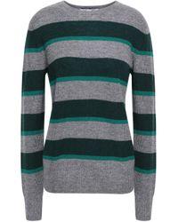 Autumn Cashmere Gray Striped Cashmere Sweater