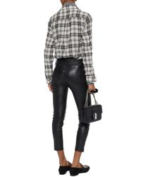 Rag & Bone Black Cropped Leather Skinny Pants