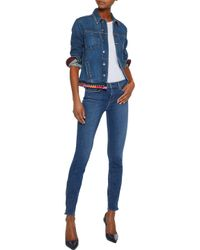 L'Agence Mid-rise Skinny Jeans Blue