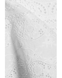 Goen.J White Broderie Anglaise Cotton Top