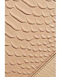 Vince | Natural Python Effect-paneled Leather Shoulder Bag | Lyst