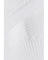 Marissa Webb - White Eva Honeycomb-knit Cotton Sweater - Lyst