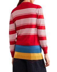 J.W. Anderson Layered Striped Merino Wool Sweater
