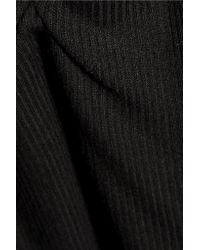 Enza Costa - Black Gathered Ribbed-jersey Tank - Lyst