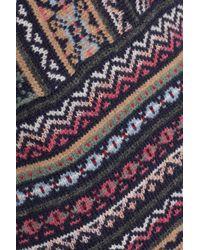 Tory Burch Blue Intarsia-knit Wool And Alpaca-blend Sweater