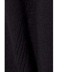 Iris & Ink Woman Cotton And Cashmere-blend Sweater Black