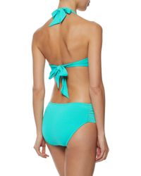 Seafolly - Blue Retro Pleated Mid-rise Bikini Briefs Turquoise - Lyst