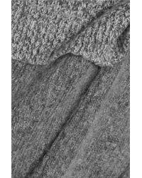 Stella McCartney Gray Layered Wool-blend Sweater