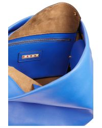 Marni - Blue Maxi Strap Leather Shoulder Bag - Lyst