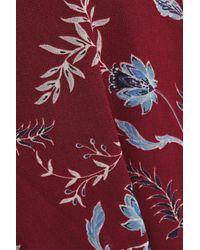Rebecca Minkoff Red Wendy Wrap-effect Floral-print Chiffon Mini Dress Burgundy