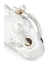 Proenza Schouler - Woman Silver-tone Stone Earring Off-white - Lyst