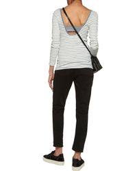 Splendid - Gray Ballet Striped Ribbed-jersey Top - Lyst