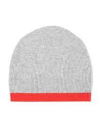 Duffy - Gray Two-tone Wool And Cashmere-blend Beanie - Lyst