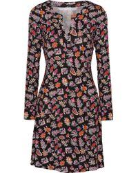 Diane von Furstenberg | Black Pixie Printed Silk-jersey Dress | Lyst