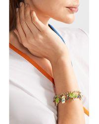 Rosantica - Metallic Enameled Gold-tone Beaded Charm Bracelet - Lyst