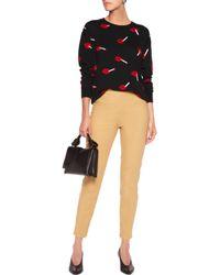 Moschino Natural Cotton-blend Slim-leg Pants