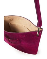Roger Vivier Purple Suede Shoulder Bag Magenta
