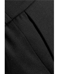 KENZO Black Wool-twill Tapered Pants
