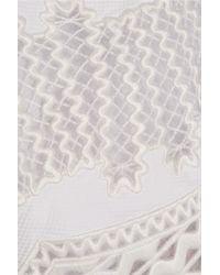 Stella McCartney - White Laycie Embroidered Organza And Cotton-piqué Mini Dress - Lyst