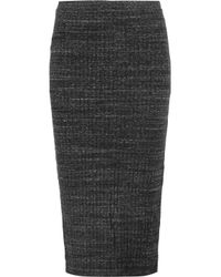 Monrow Ribbed Stretch-knit Midi Skirt Dark Green