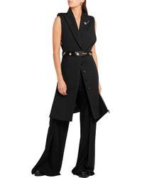Alexander McQueen Black Wool And Silk-blend Gilet