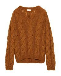 Mansur Gavriel Sur Gavriel Cable-knit Mohair-blend Sweater Light Brown