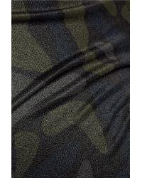 Y-3 Blue + Adidas Reversible Cotton-blend Leggings