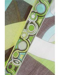Emilio Pucci - Green Printed Cotton-gauze Kaftan - Lyst