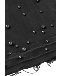 FRAME Studded Frayed Mid-rise Bootcut Jeans Black
