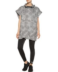 Adidas By Stella McCartney - Gray Printed Coated Shell Jacket - Lyst