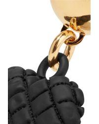 Moschino - Metallic Gold-tone And Coated Metal Earrings - Lyst