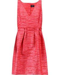 Lanvin Red Brocade Mini Dress
