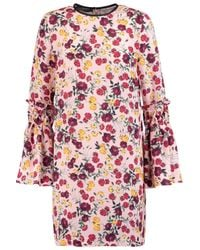 Mother Of Pearl Dixie Printed Silk Mini Dress Pastel Pink