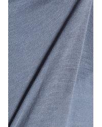 Skin Low-rise Cotton-jersey Thong Light Blue