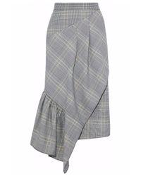 Tibi Gray Jasper Suiting Skirt