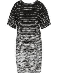 Vince | Black Printed Silk Dress | Lyst