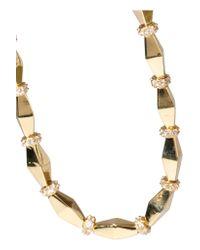 Noir Jewelry - Metallic Gold-tone Cubic Zirconia Necklace - Lyst