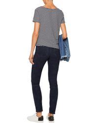 MiH Jeans - Bridge Suede Skinny Pants Storm Blue - Lyst
