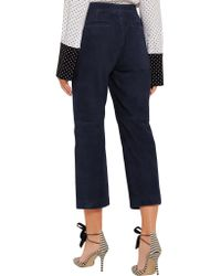 J.Crew - Blue Collection Cropped Suede Wide-leg Pants - Lyst