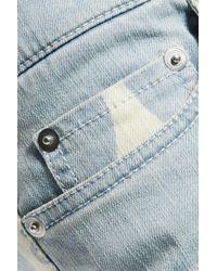 Moschino Blue Printed Mid-rise Slim-leg Jeans
