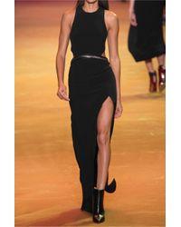 Mugler | Black Cutout Embellished Crepe Gown | Lyst