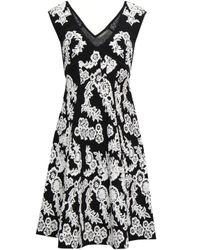 Zac Posen Floral-jacquard Dress White