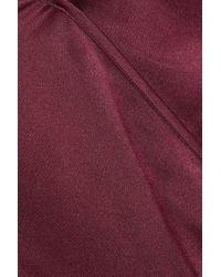 Cami NYC Multicolor Allison Wrap-effect Silk-charmeuse Bodysuit Claret