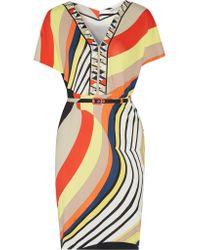 Emilio Pucci | Natural Printed Stretch-jersey Dress | Lyst